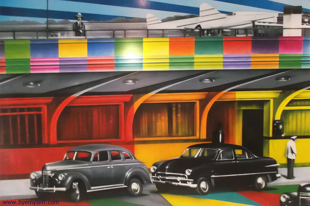 Street Art bei Eduardo Kobra in Sao Paulo, Brazil