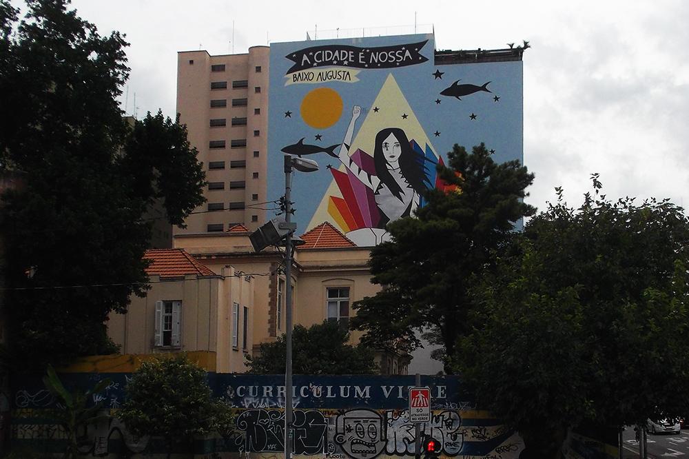Street Art by Rita Wainer in Sao Paulo, Brazil