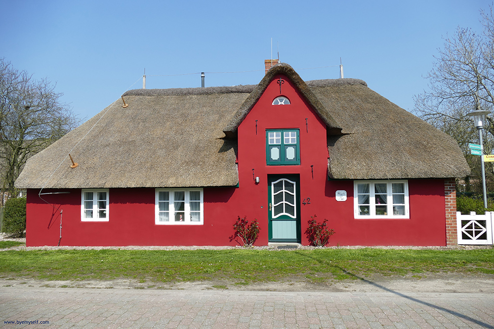 Old house at Süderende on Foehr
