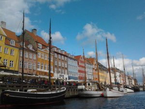 Port of Nyhavn in Copenhagen, Denmark