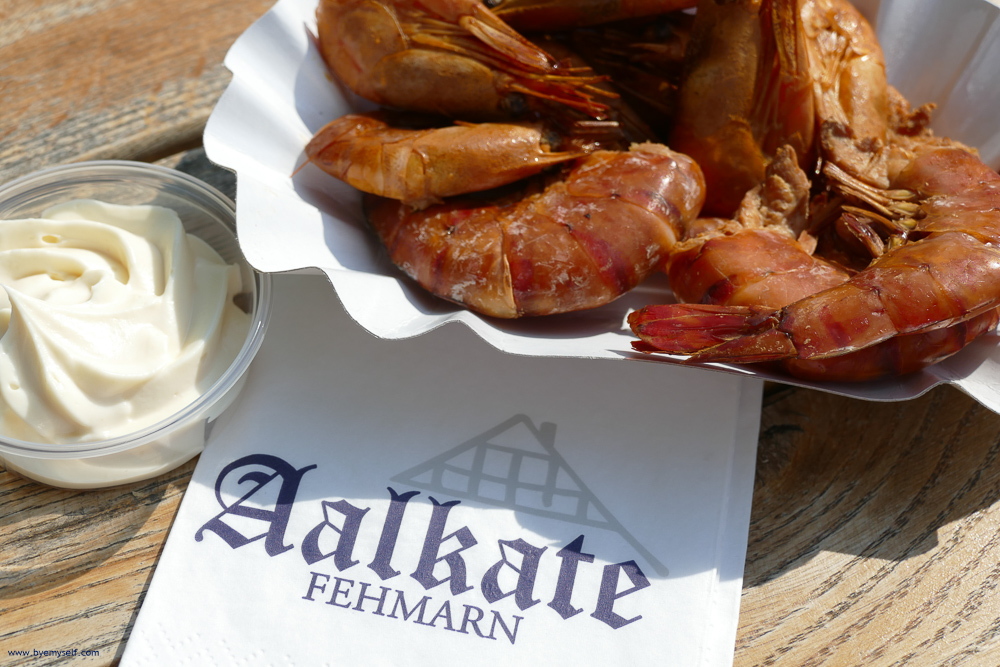 Food at the Aalkate in Lemkenhafen on Fehmarn