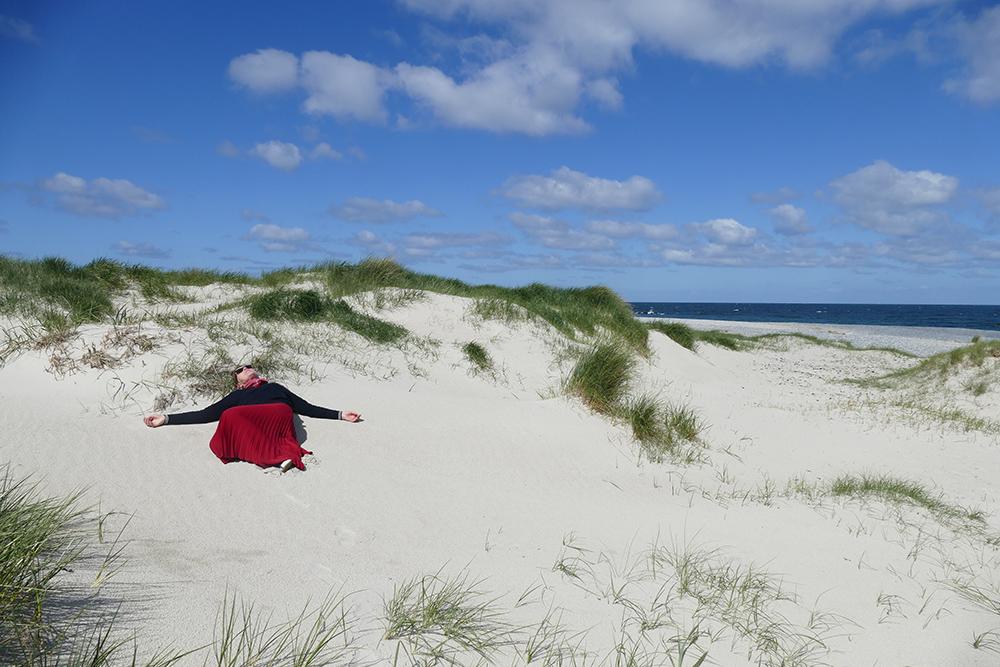 Beach on the island of Düne