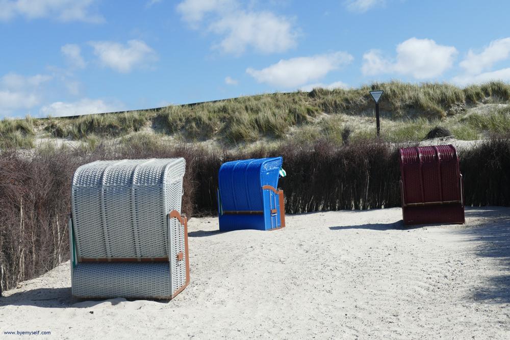 Beach Chairs on the island of Düne