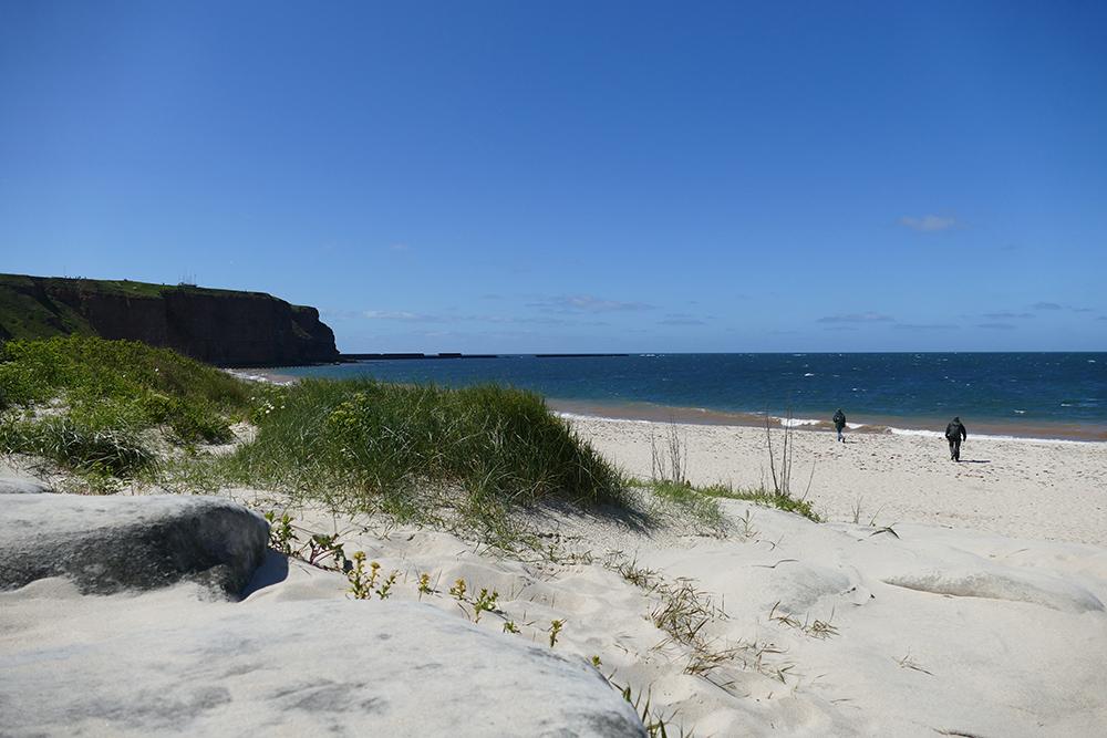 Beach on the island of Heligoland