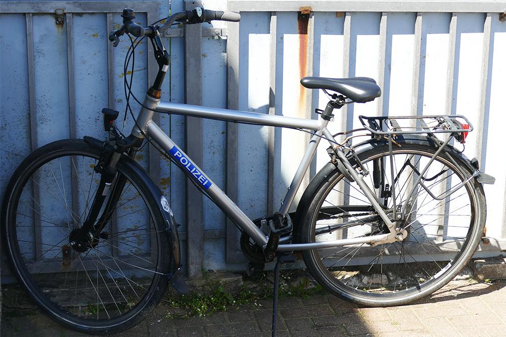 Police bicycle on Heligoland