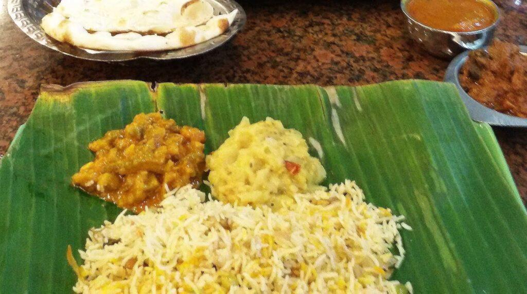 Indian Food on a Banana Leaf
