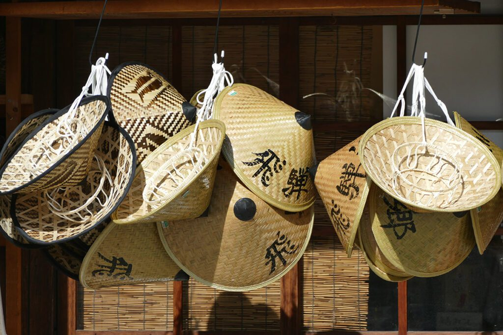 Straw souvenirs in Shirakawago.