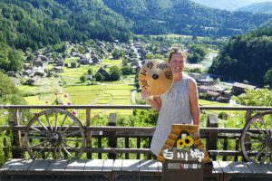 Renata Green in Shirakawago, Japan