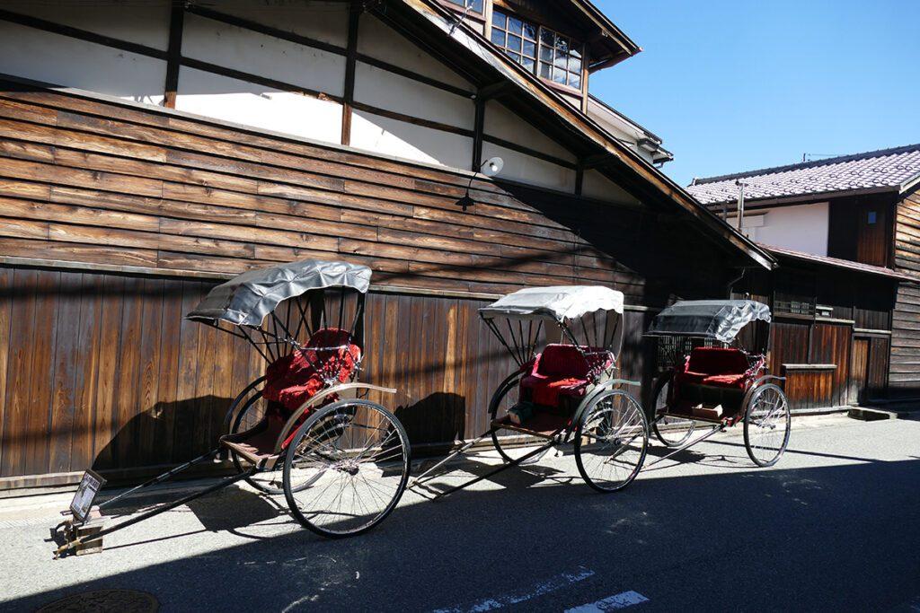 Rikshaws at Takayama