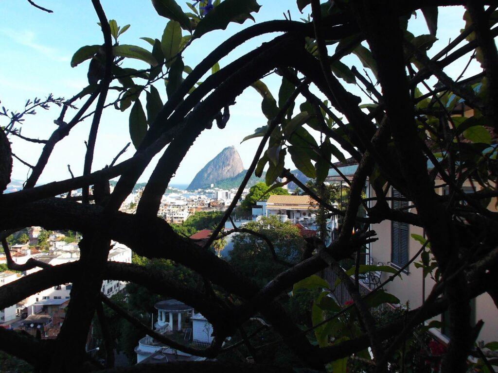 View from Rua Santa Cristina, one of the rough neighborhoods in Rio de Janeiro.
