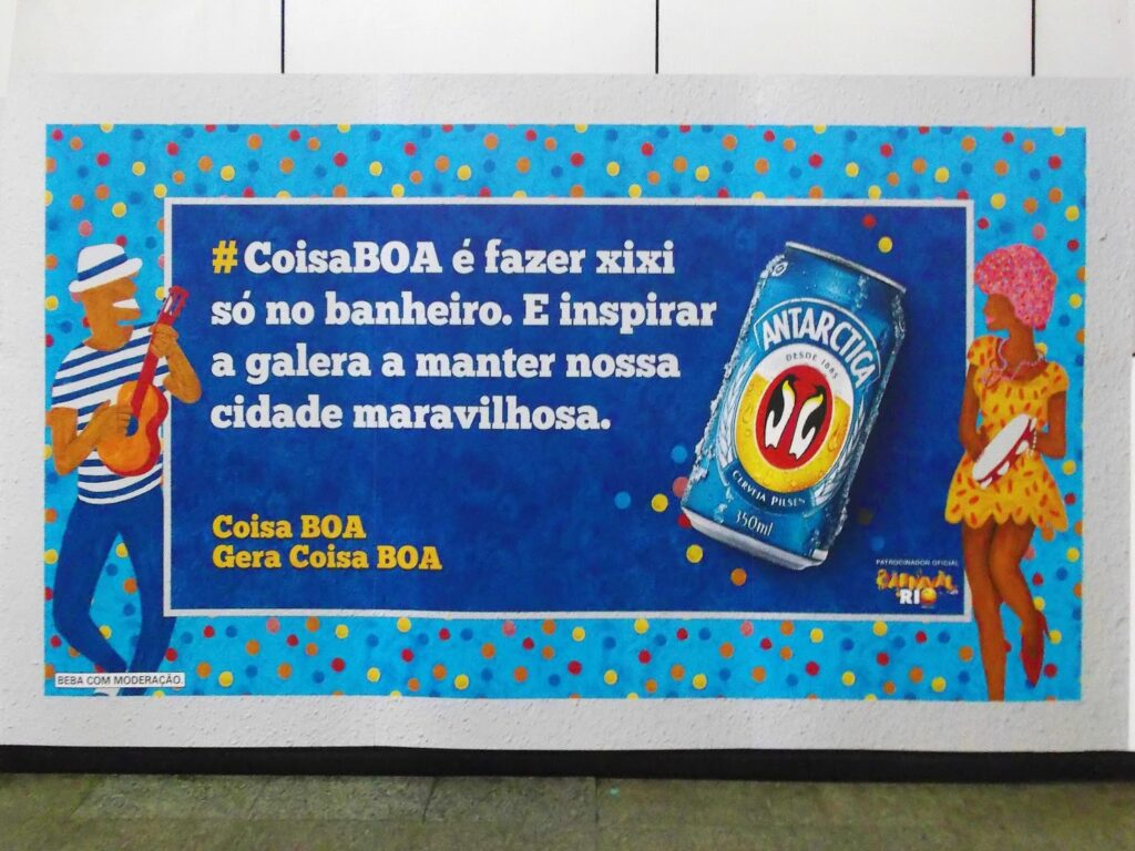 Beer ad in Rio de Janeiro