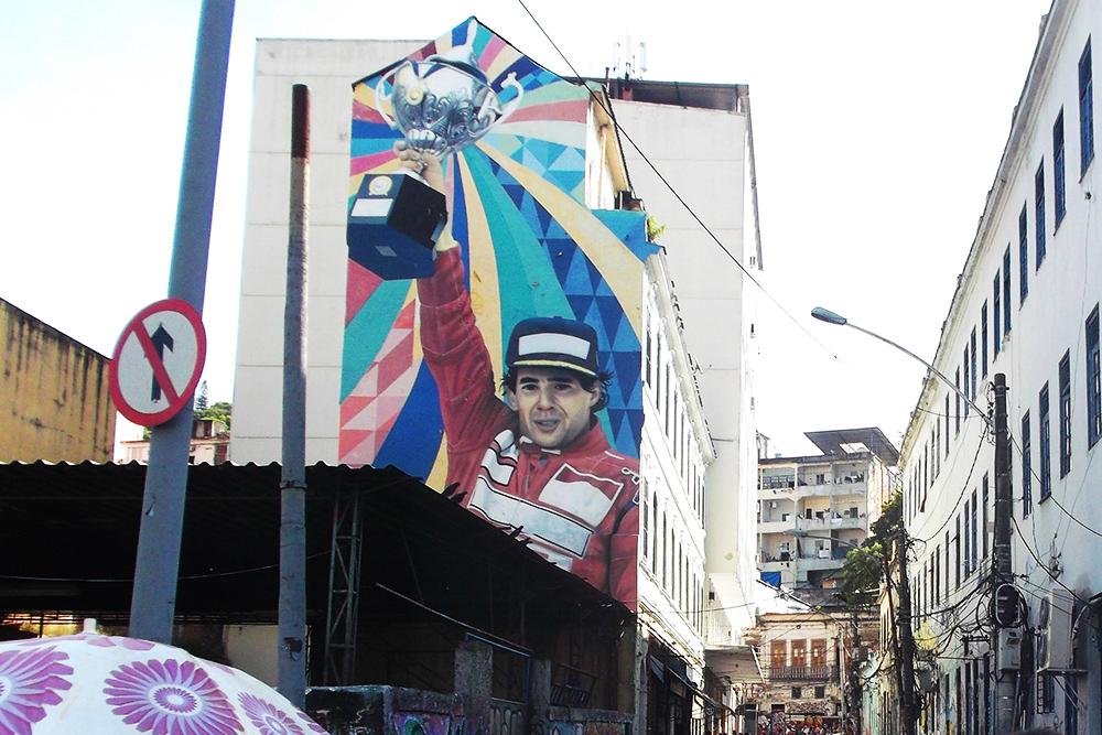 Street Art bei Eduardo Kobra in Rio de Janeiro, Brazil