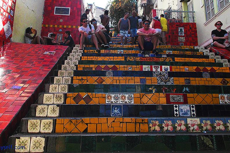 Escadaria Selarón in Rio de Janeiro, Brazil