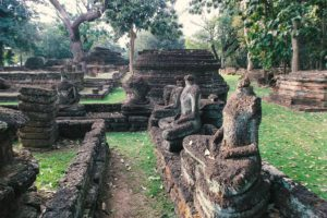 Archeological Park at the center of Kamphaeng Phet, Thailand