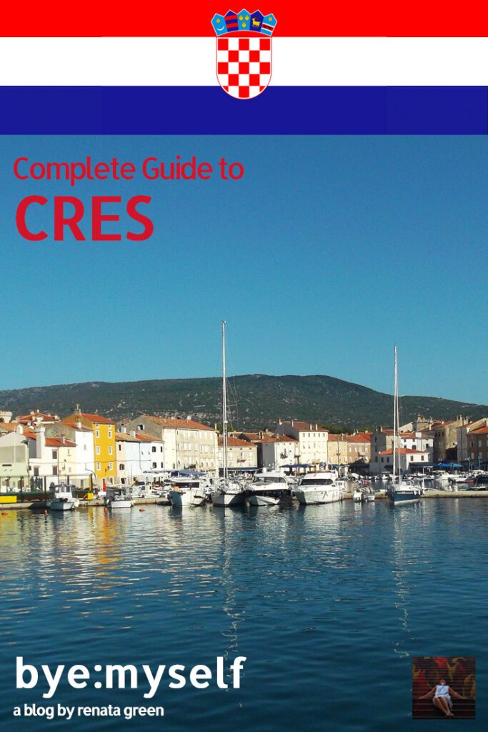 Pinnable Picture for the post on Guide to CRES, a Magic Island in the Adriatic Sea