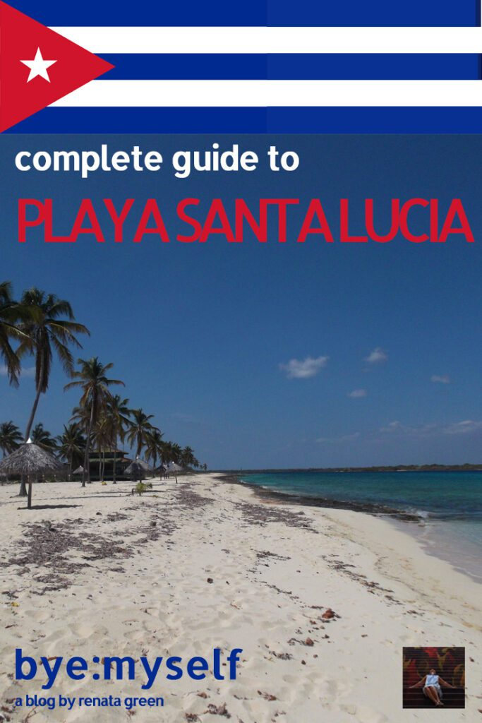 Pinnable Picture for the Post on PLAYA SANTA LUCIA - Cuba's Secluded Tropical Paradise