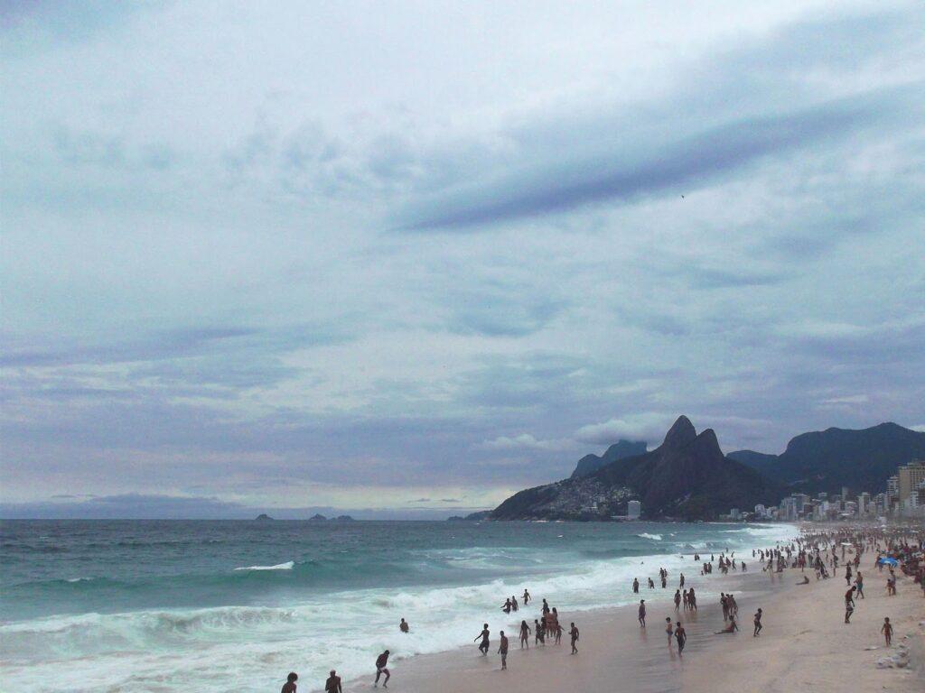 Praia Ipanema in Rio de Janeiro.