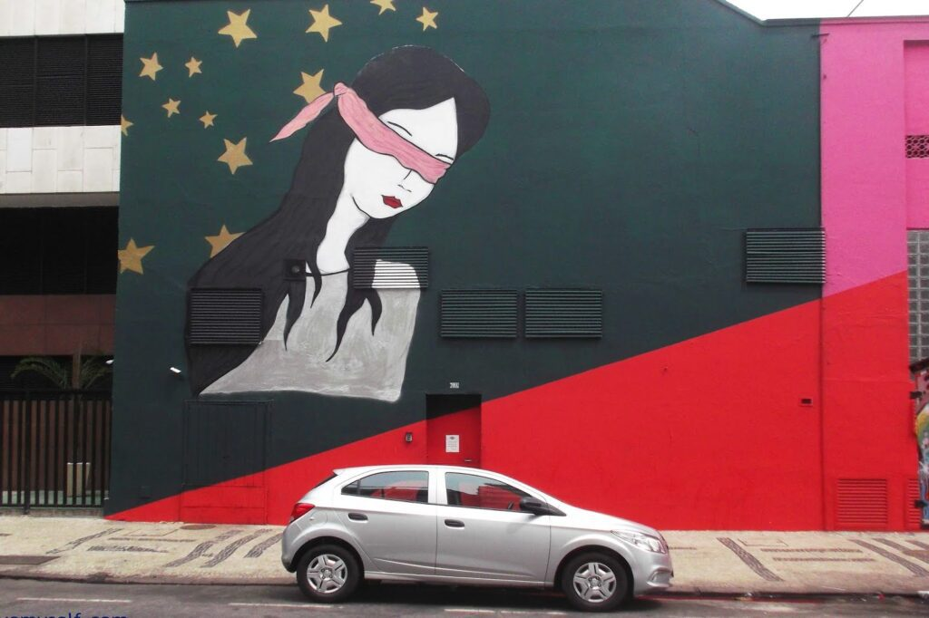 Street Art by Rita Wainer in Rio de Janeiro, Brazil